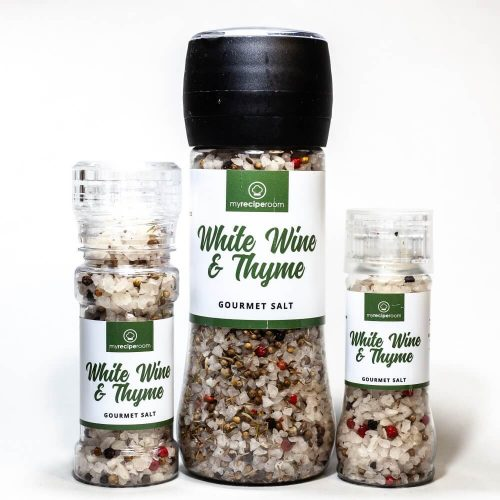 White wine thyme gourmet salt my recipe room